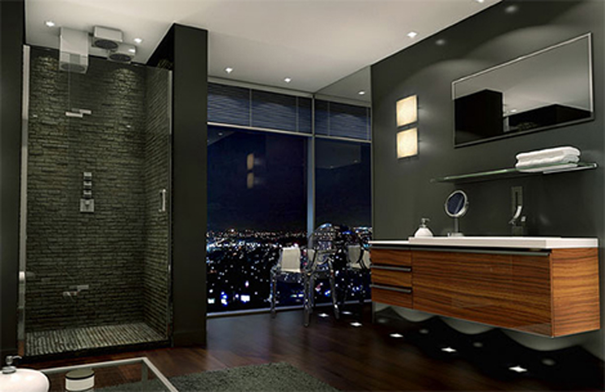 Douchedeuren flexibel wonen for Luxury bathroom ideas uk