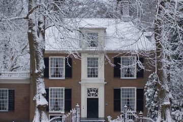 huis in de winter