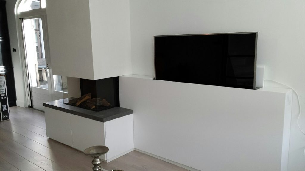 een sfeervolle tv wand met haard in de woonkamer flexibel wonen. Black Bedroom Furniture Sets. Home Design Ideas